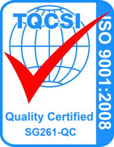 iso 9001 Cert Mark - QMS (Blue Pantone PMS 285, Red Pantone PMS 485)